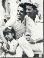 Tom Pistone with David Pearson and daughter Chrissy