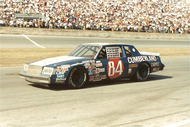 Jody Ridley's 1984 car sponsored by Cumberland Mills.