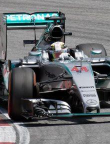 Lewis Hamilton, seen here in Malaysia, scored the victory in Sochi. (user:Morio Wikimedia Commons)