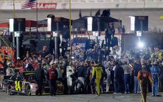 The powder keg erupted on pit road last year at Texas. (Photo by Tom Pennington/Getty Images for Texas Motor Speedway)