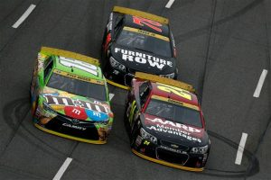 Kyle Busch battled back from early contact with Austin Dillon to finish fifth. Jeff Zelevansky/NASCAR via Getty Images