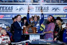 Jimmie Johnson will look to fire off the six-shooters again this weekend. (Photo by Sarah Glenn/Getty Images for Texas Motor Speedway)