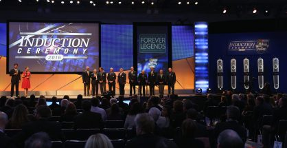 Five new members officially took their place inside the NASCAR Hall of Fame. Photo: Streeter Lecka/NASCAR via Getty Images