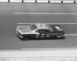 DAYTONA BEACH, FL ? February 12, 1960: Glen ?Fireball? Roberts led all 40 laps to win the first 100-mile qualifying race for the Daytona 500 NASCAR Cup event at Daytona International Speedway. Roberts was driving a 1960 Pontiac owned by John Hines and wrenched by Henry ?Smokey? Yunick. (Photo by ISC Images & Archives via Getty Images)