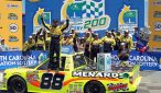 Matt Crafton celebrates victory at Charlotte Motor Speedway. Photo: Noel Lanier/OnPitRoad.com