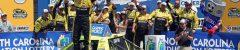 Matt Crafton celebrates victory at Charlotte Motor Speedway. Photo: Noel Lanier/OnPitRoad.com