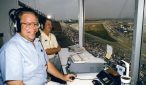 Eli Gold calling the action from Talladega Superspeedway. Photo: ISC Images & Archives via Getty Images