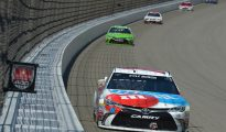 Kyle Busch's run of bad finishes continued with a blown engine at Michigan. Photo: Drew Hallowell/Getty Images