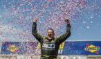 Tony Stewart celebrates victory at Sonoma.  Photo Credit: Justin McFarland