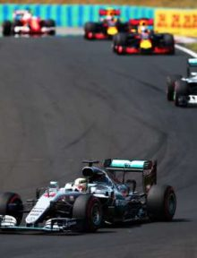 Lewis Hamilton had the field in check on his way to scoring the victory in Hungary. Photo: Dan Istitene/Getty Images