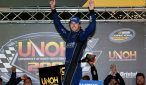 Ben Kennedy celebrates victory at Thunder Valley. Photo: Sean Gardner/NASCAR via Getty Images