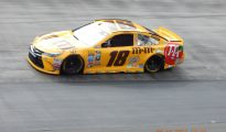 Kyle Busch posted the fastest time in first Sprint Cup Series practice at Bristol Motor Speedway. Photo: Tucker White/SpeedwayMedia.com