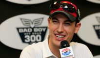 Joey Logano addressed the media this morning before Sprint Cup Series practice at New Hampshire Motor Speedway. Photo: Chris Trotman/NASCAR via Getty Images