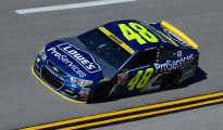 Jimmie Johnson posted the fastest time in final Sprint Cup Series practice at Talladega Superspeedway. Photo: Robert Laberge/NASCAR via Getty Images