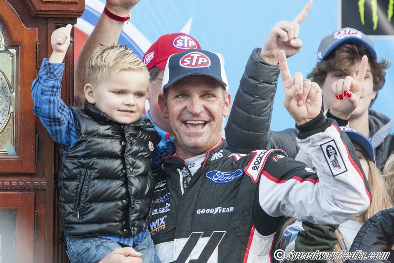 Photo of Clint Bowyer  & his  Son  Cash Aaron Bowyer