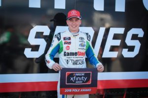 Christopher Bell qualifies on pole for the Roseanne 300 for the NASCAR Xfinity Series. Photo by Rachel Myers for Speedway Media.