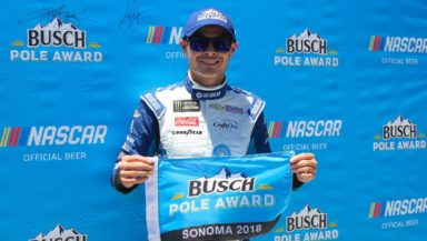 Kyle Larson earns back to back poles at Sonoma Raceway. Photo by Rachel Myers.