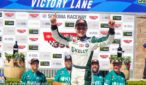 Will Rodgers celebrates in victory lane at Sonoma Raceway in the K&N Pro West Series. Photo by Rachel Myers.