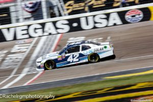 Chastain wins both stages at Las Vegas Motor Speedway in the DC Solar 300. Photo by Rachel Myers for Speedway Media.