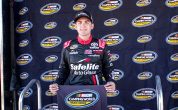 Noah Gragson was over an entire mile an hour faster, but five thousandths of a second short of the qualifying record, as he claims the pole.