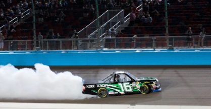 Brett Moffitt wins at ISM Raceway to secure his spot in the Championship Race at Homestead Miami Speedway. Photo by Rachel Schuoler for Speedway Media.