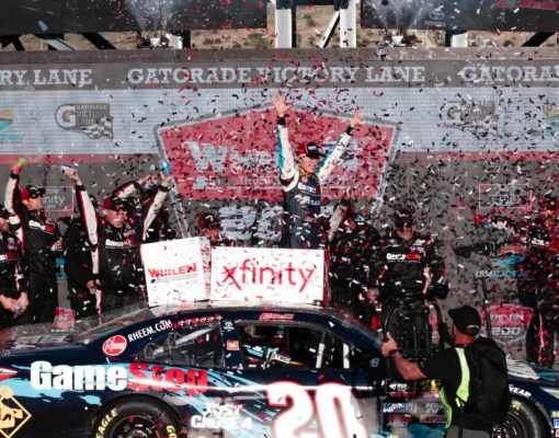Christopher Bell secures his spot in the NASCAR Xfinity Series Championship 4 by winning at ISM Raceway. Photo by Rachel Schuoler for Speedway Media.