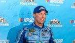 Kevin Harvick wins the pole in the penultimate race of the 2018 NASCAR Monster Energy Series at ISM Raceway for Sunday's Can-Am 500. Photo by Rachel Schuoler for Speedway Media.