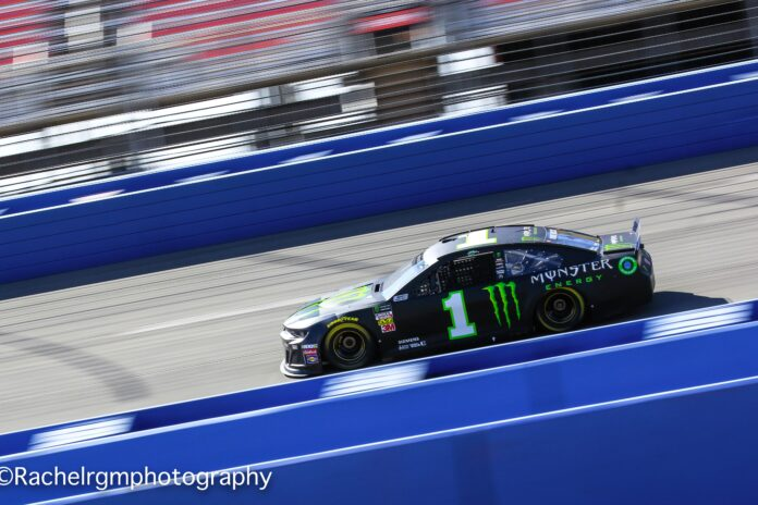 Kurt Busch turns some practice laps on Friday at Auto Club Speedway in preparation for Sunday's race. Photo courtesy of Rachel Schuoler from Speedway Media.