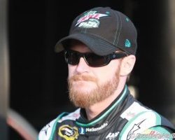 Dale Earnhardt Jr at Charlotte Motor Speedway May 2015 by Brad Keppel
