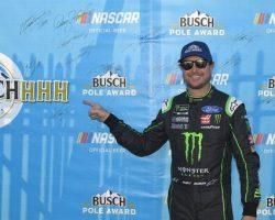 Kurt Busch wins MENCS Talladega pole via NASCAR.com 10-13-18