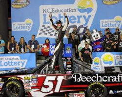 Kyle Busch wins truck race at Charlotte May 2017 by Noel Lanier (1)