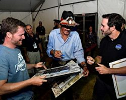 Richard Petty and Jimmie Johnson and Dale Earnhardt Jr at Darlington by David Yeazell 9-1-18